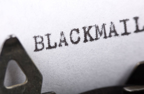 Blackmail-letter